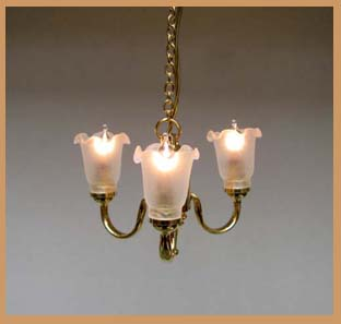 3 arm tulip chandelier